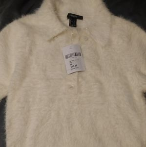 Forever 21 Sweaters - Cute Fuzzy Crop Top